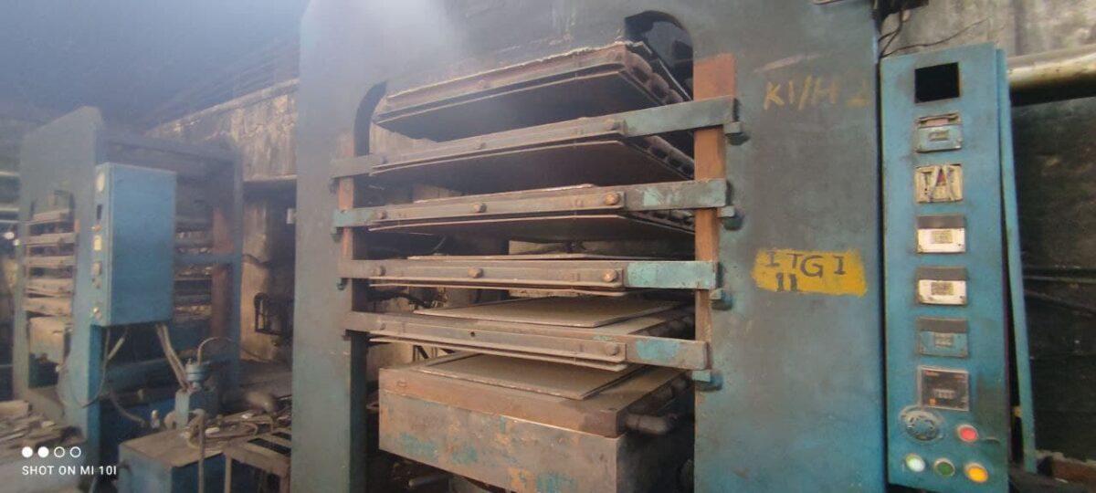 "Rubber Molding Hydraulic Press Size 36"" X 41"""